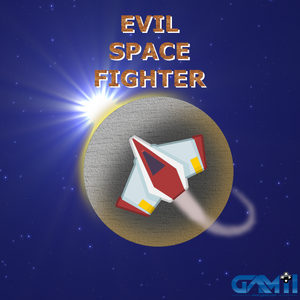 Evil Space Fighter Logo